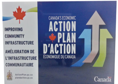 Canada Action Plan Rigid Sign