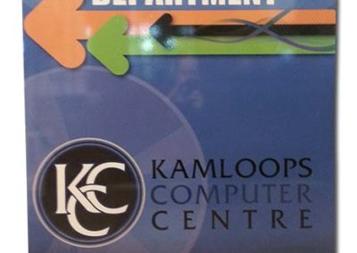 Kamloops Computer Centre Rigid Sign