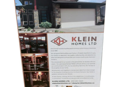 Klein Homes for Tobiano Rigid Sign