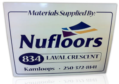 Nufloors Rigid Sign