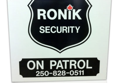 Ronik Security Rigid Sign