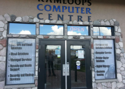 Kamloops Computer Centre Window Signs