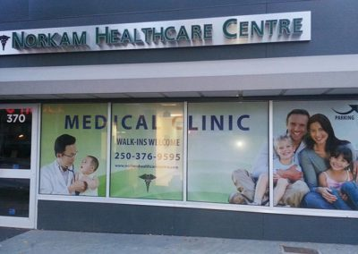 Norkam Healthcare Clinic Window Signs - 1