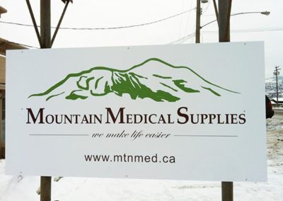 Mountain Medical Supplies - Outdoor Sign