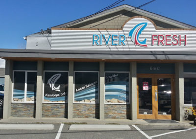 River Fresh Window Signs