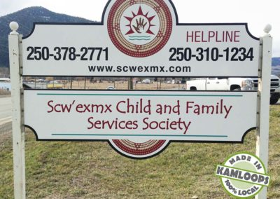 Scw' exmx Child and Family Services Society Sign