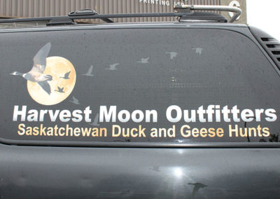 Harvest Moon Outfitters Vehicle Sign